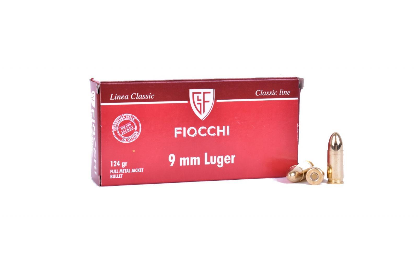 Boite  50 cartouches FIOCCHI 124 grs FMJ FIO709112