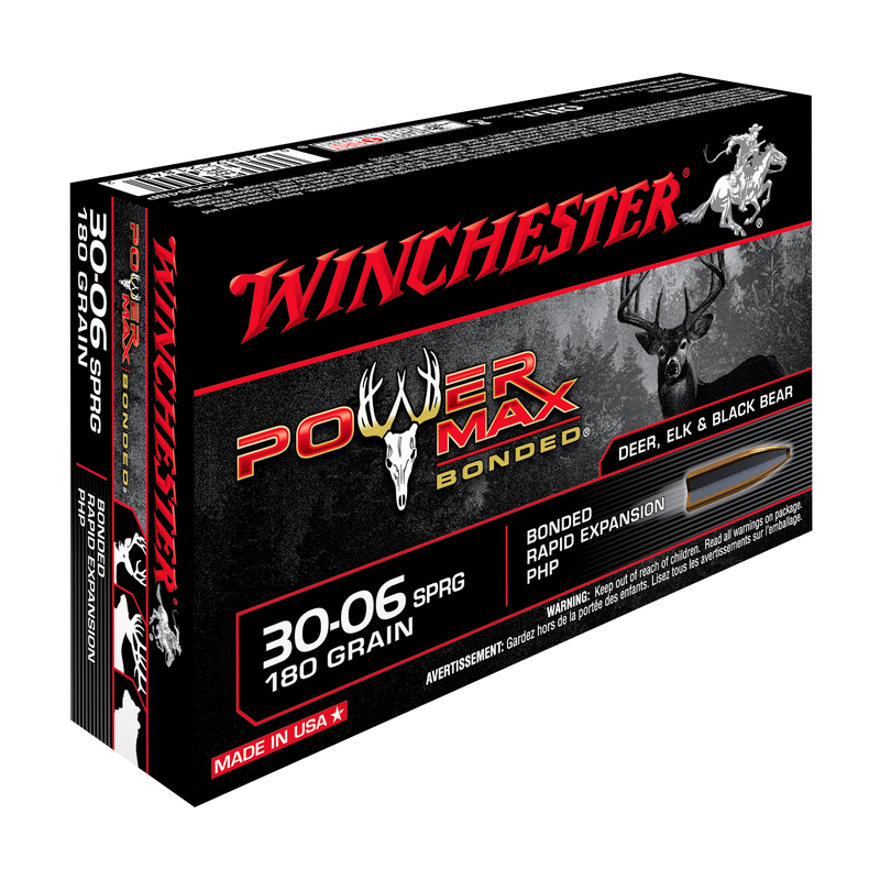 Boîte de 20 cartouches WINCHESTER 30-06 Sprg 180 grs Power Max Bonded