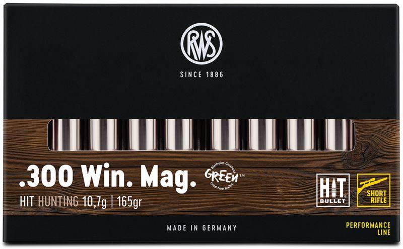 Boîte de 20 cartouches RWS 300 Win Mag 165 grs HIT
