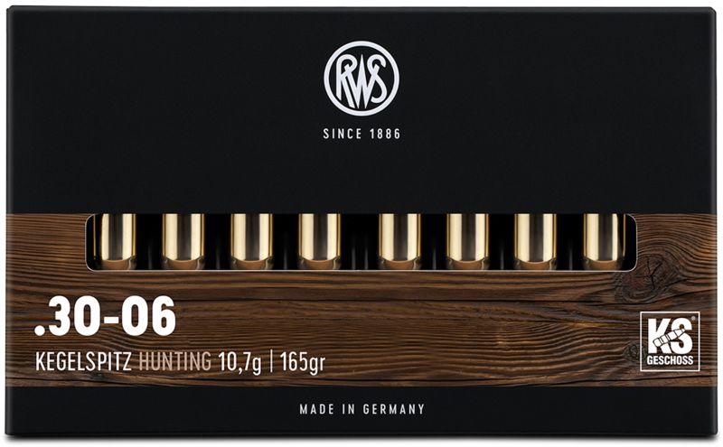 Boîte de 20 cartouches RWS 30-06 Spg 165 gr KS