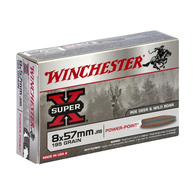 Boîte de 20 cartouches WINCHESTER SUPER X 8x57 JRS 195 grs POWER POINT