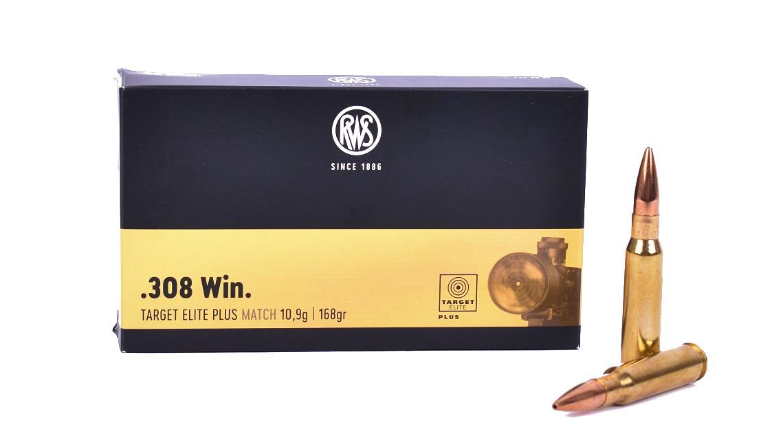 Boite de 20 cartouches Cal. 308 WIN RWS Target Elite 168grs Match