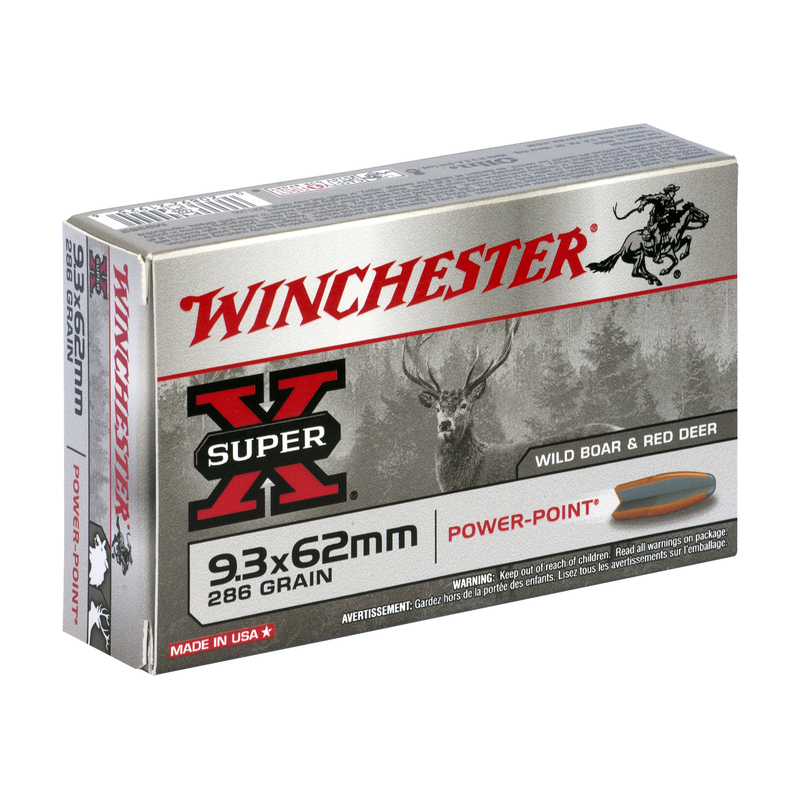 Boîte de 20 cartouches WINCHESTER SUPER X 9.3x62 286 grs POWER POINT
