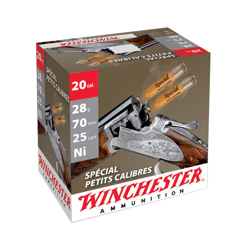 Boîte de 25 cartouches WINCHESTER Cal. 20/70 - 28 g Sépcial petit calibre n°6