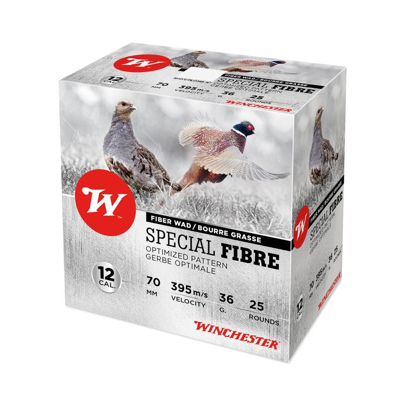 Boîte de 25 cartouches WINCHESTER Cal. 12/70 Spécial fibre 36g