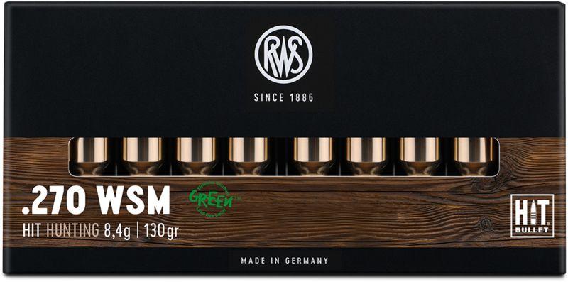 Boîte de 25 cartouches RWS 270 WSM 130 gr - 8,4 g HIT