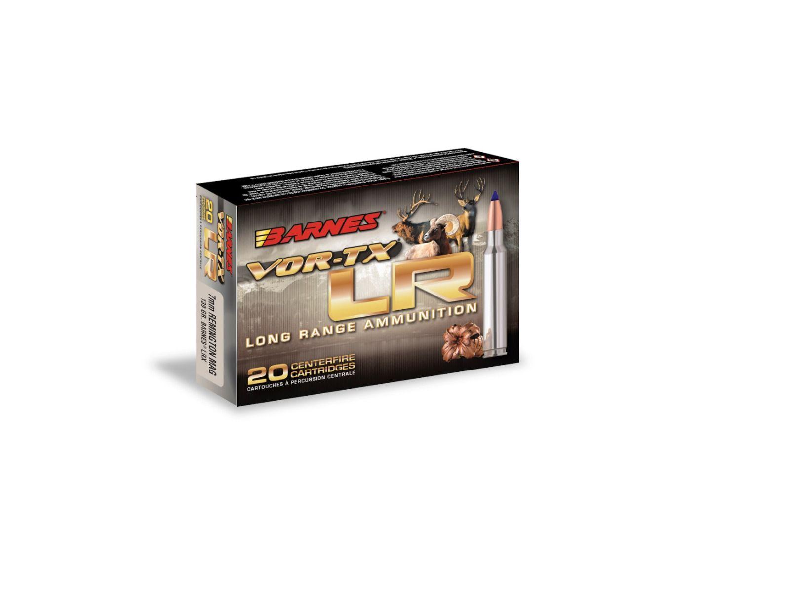 Boîte de 20 cartouches BARNES Cal. 300 Win Mag 190 gr LRX