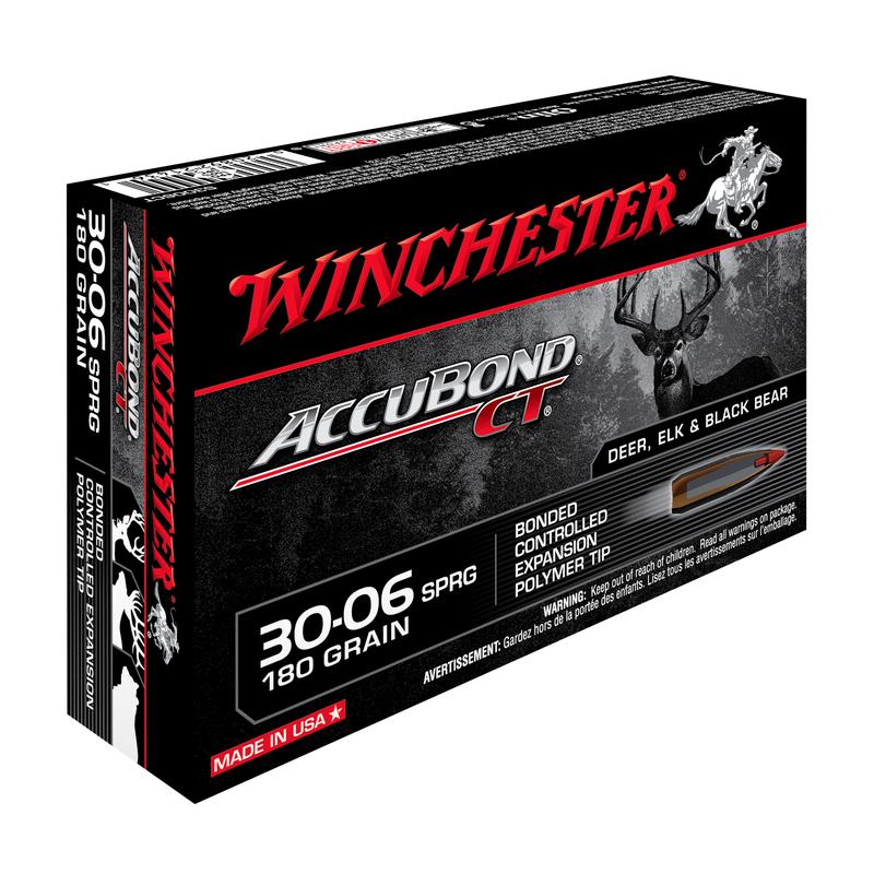 Boîte de 20 cartouches WINCHESTER 30-06 Spg 180 gr - 11.66 g ACCUBOND CT