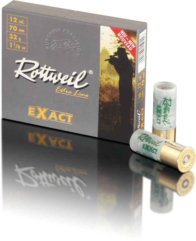 Boîte de 10 cartouches à balle ROTTWEIL Exact cal. 12/70 - 32 g