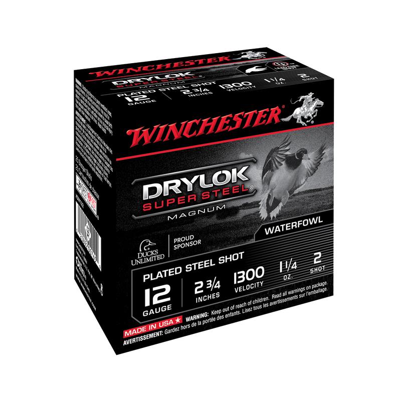 Boîte de 25 cartouches WINCHESTER Cal. 12/70 billes acier Drylok 35 g
