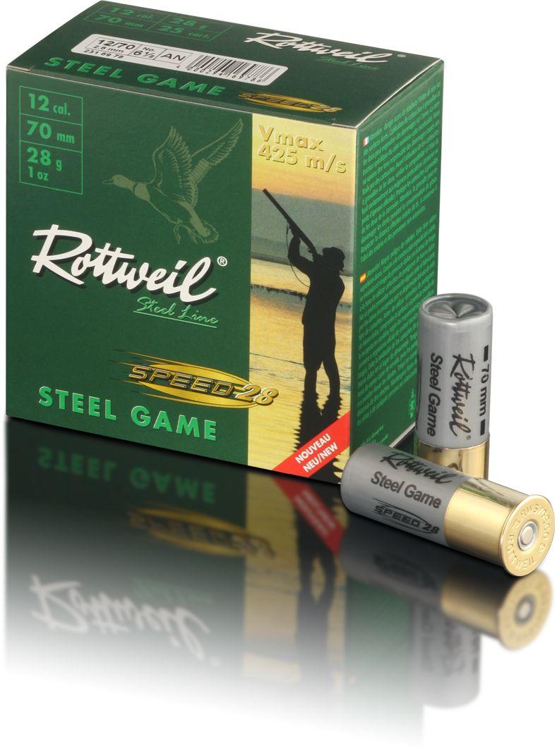 Boîte de 25 cartouches ROTTWEIL Steel Game 12/70 28 g Haute vitesse N°4