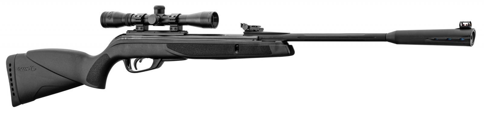 Pack carabine à plomb GAMO Quiet Black 4.5 mm / 19.9 J + Lunette 4x32 + acccessoires