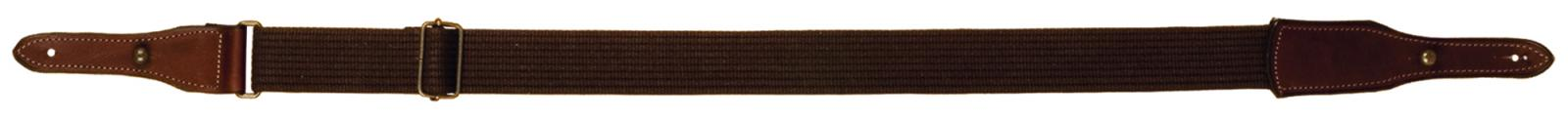 Bretelle Cobra en cuir gras avec sangle coton 40mm COUNTRY SELLIER