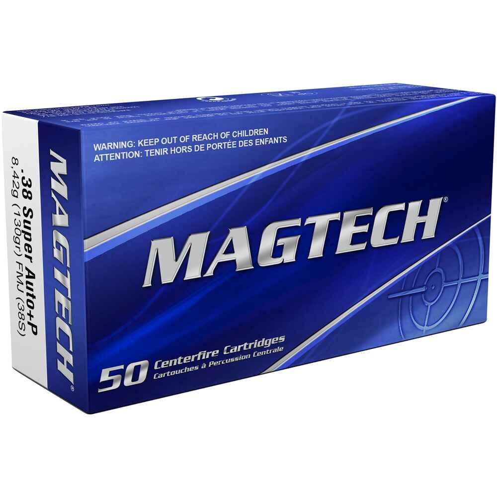 Bte 50 cartouches MAGTECH 38 Super Auto 130 grs FMJ