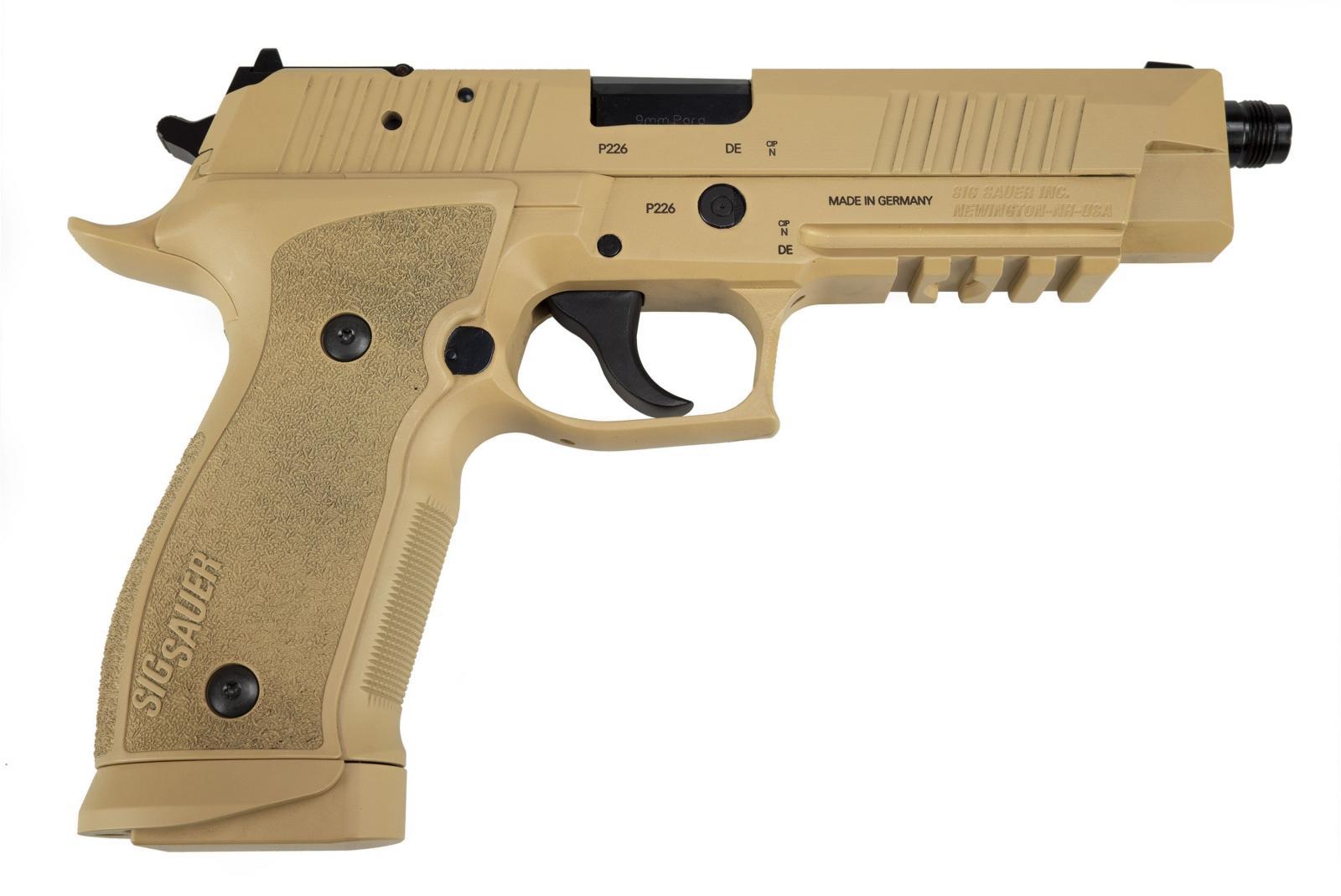 Pistolet SIG SAUER P226 X-FIVE TAC Sable Fileté Cal. 9x19 mm