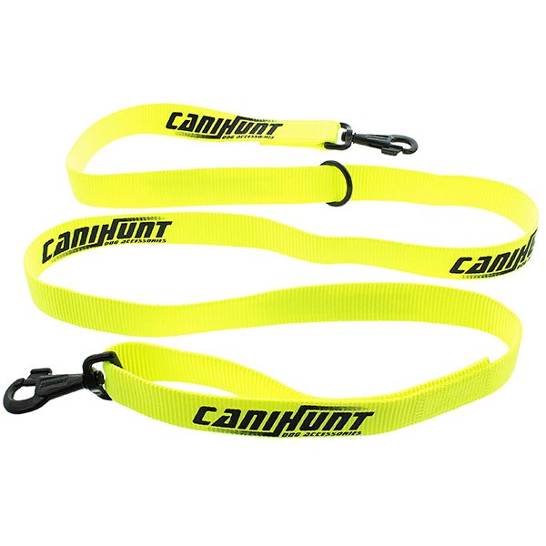 Laisse approche jaune fluo 180 cm CANIHUNT