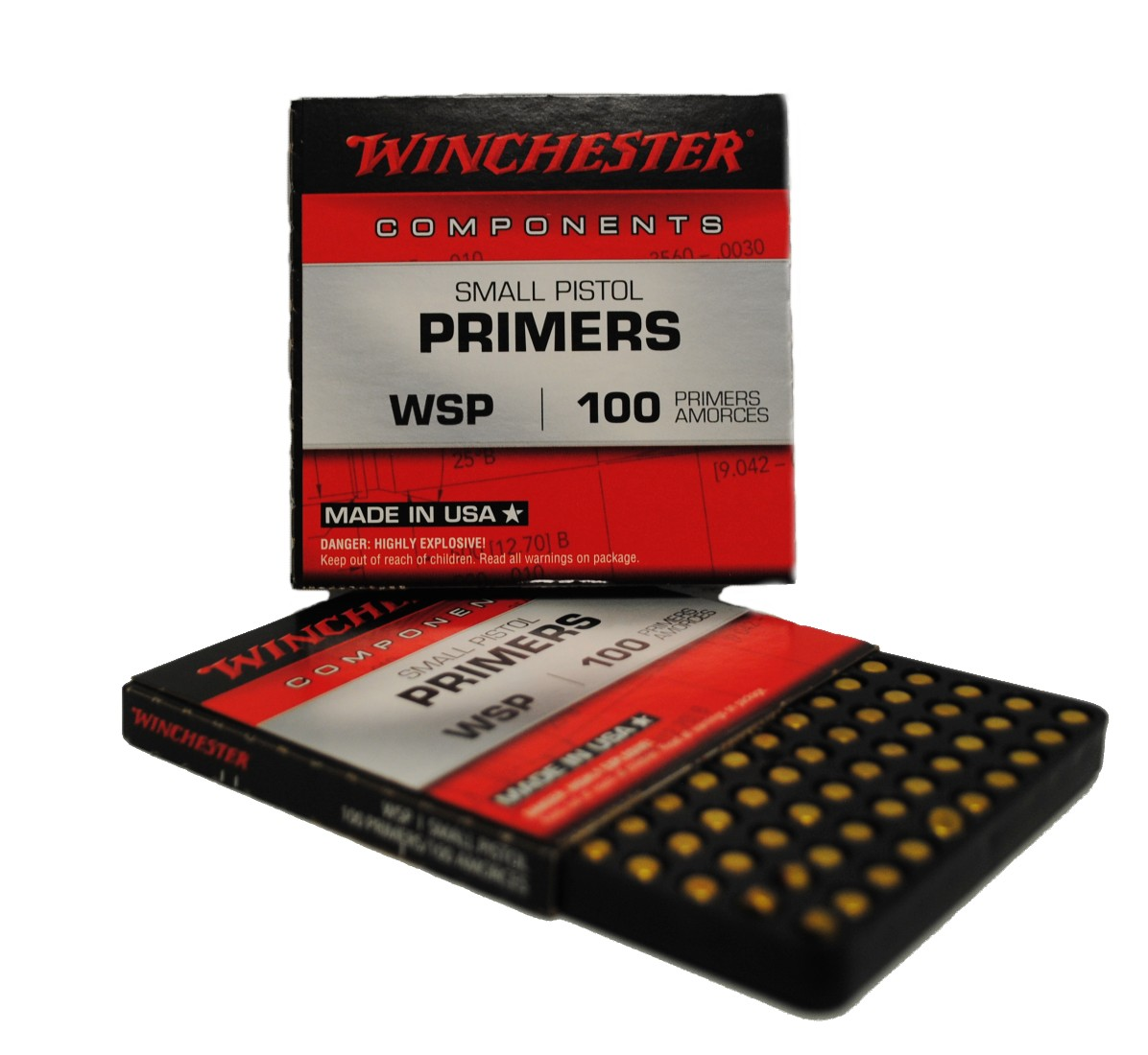 Amorces WINCHESTER small pistol le 100 WSP