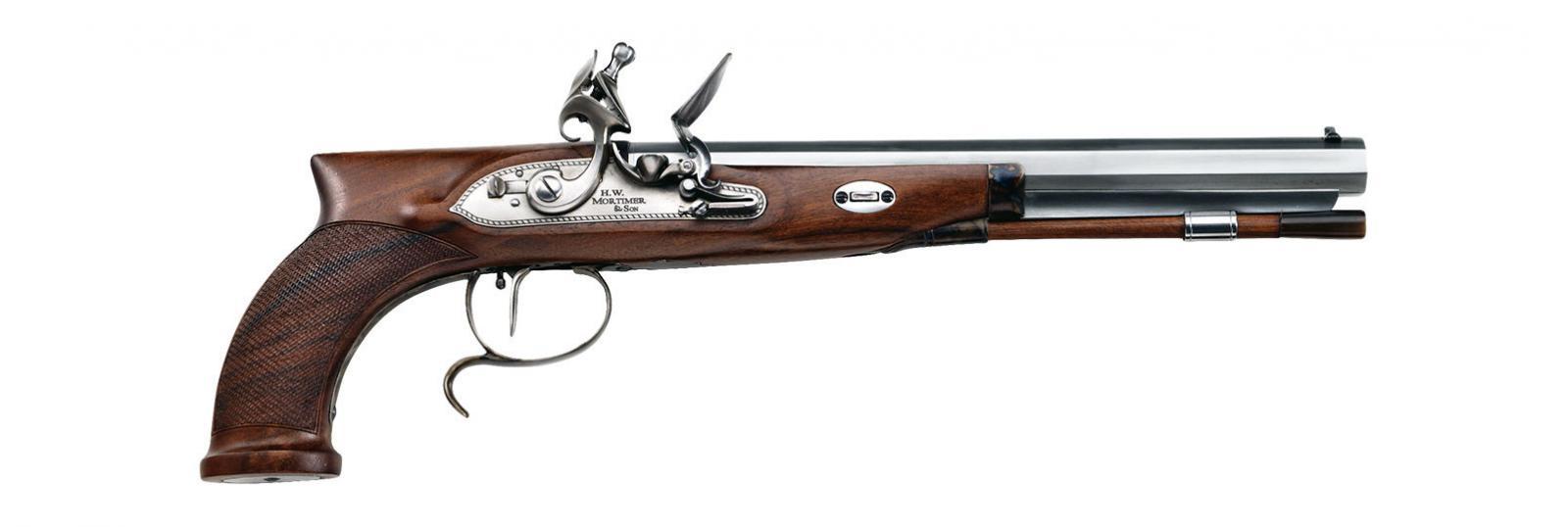 Pistolet D. PEDERSOLI MORTIMER  Silex cal. 44 PN