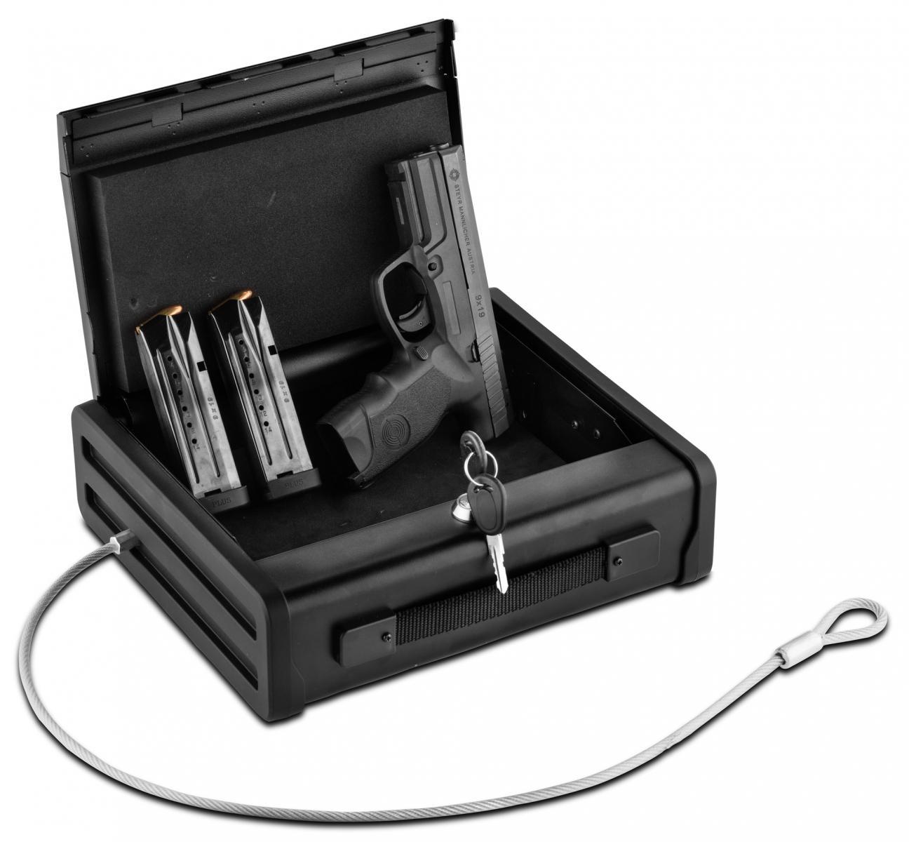 Coffre fort compact à clef MASTER LOCK avec câble de fixation