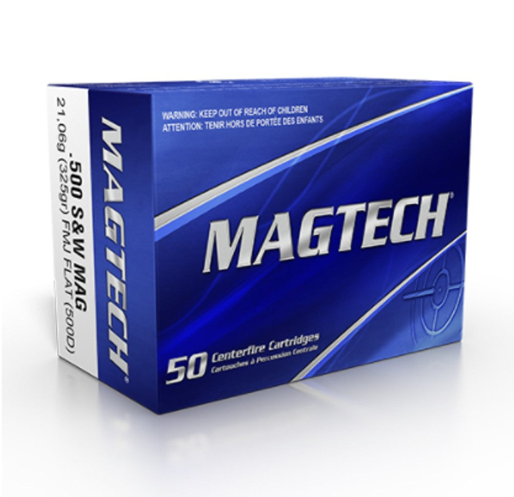Boite 20 cartouches MAGTECH Cal. 500SW MAG  325grs FMJ FP
