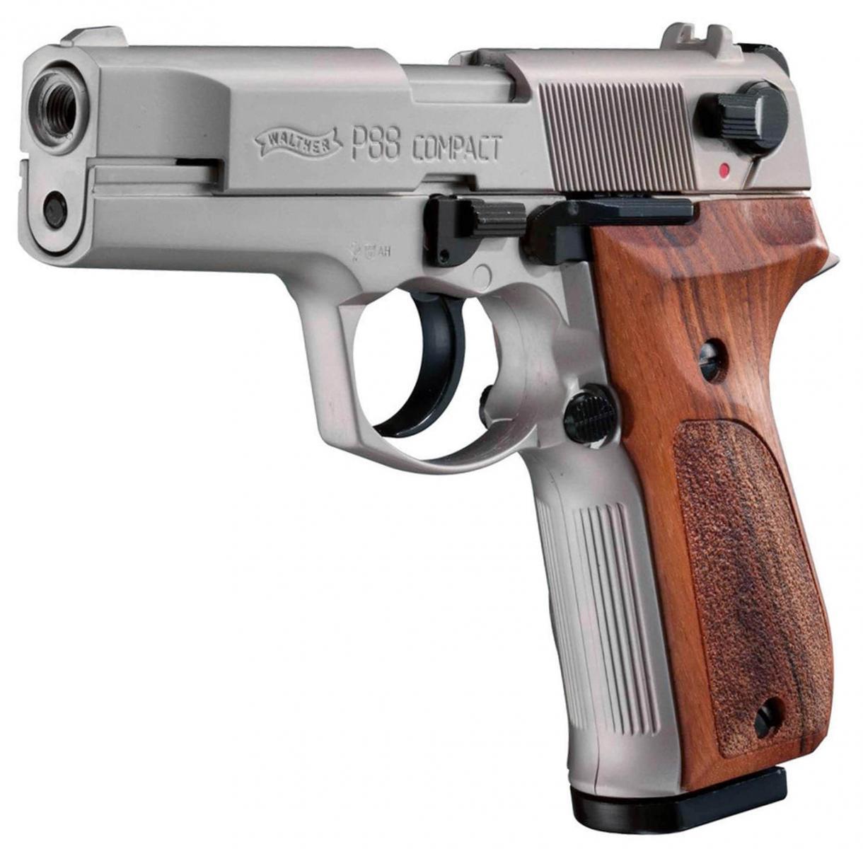 Pistolet d'alarme WALTHER P88 nickelé cal. 9 mm PAK