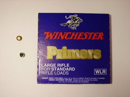 amorces WINCHESTER large rifle le 100 WLR