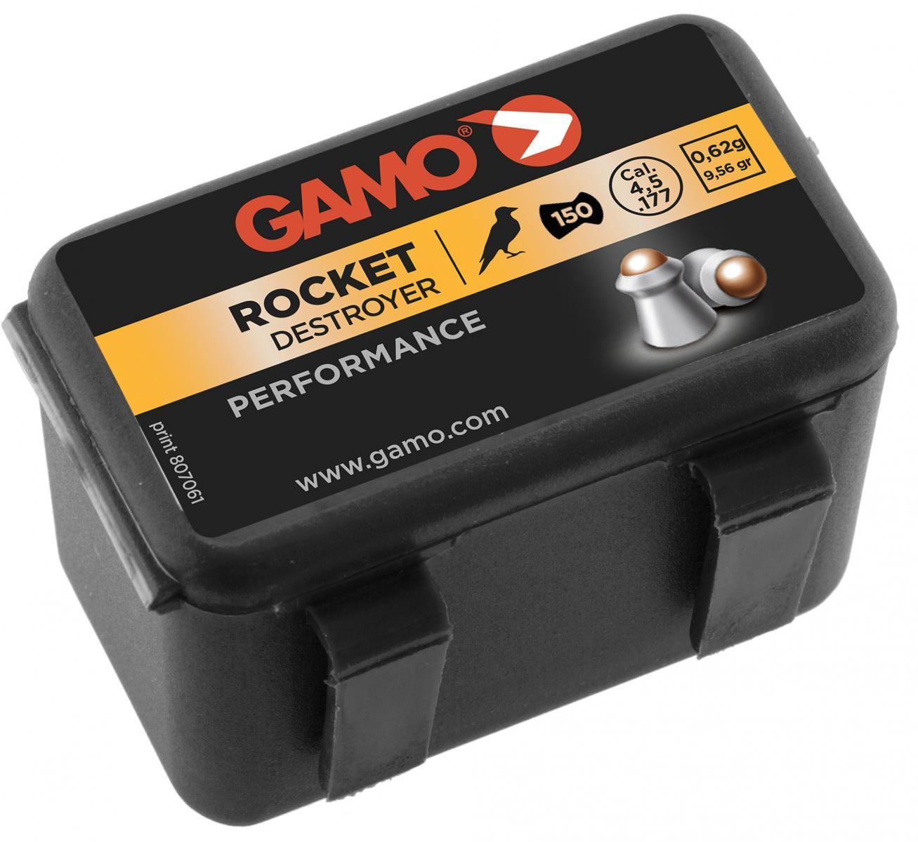 Boîte de 150 plombs 4.5 mm GAMO Rocket tête acier