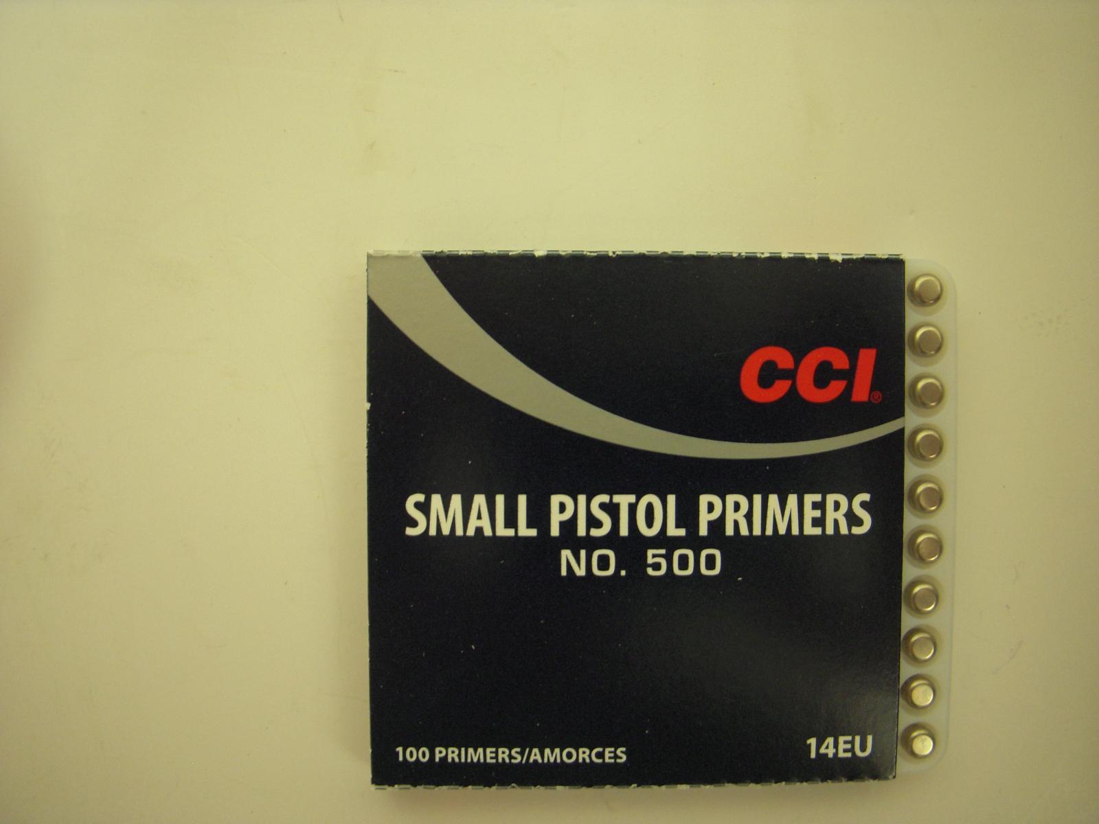 amorces CCI small pistol le 100 CCI500