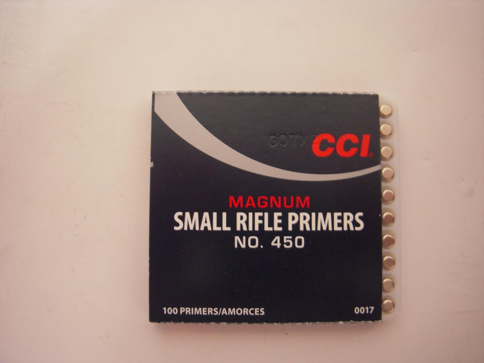 amorces CCI small rifle magnum le 100 CCI450