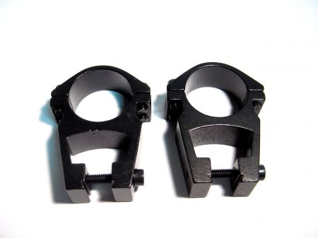 """Colliers 1"""" pour montage lunette sur rail 11 mm"""