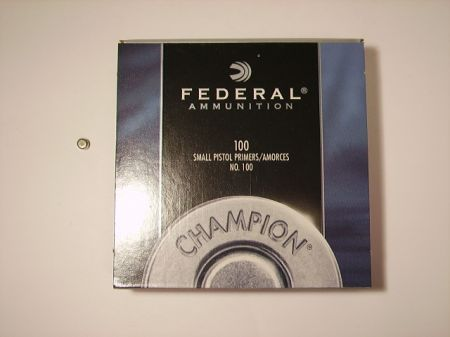 amorces FEDERAL small pistol le 100  FED100