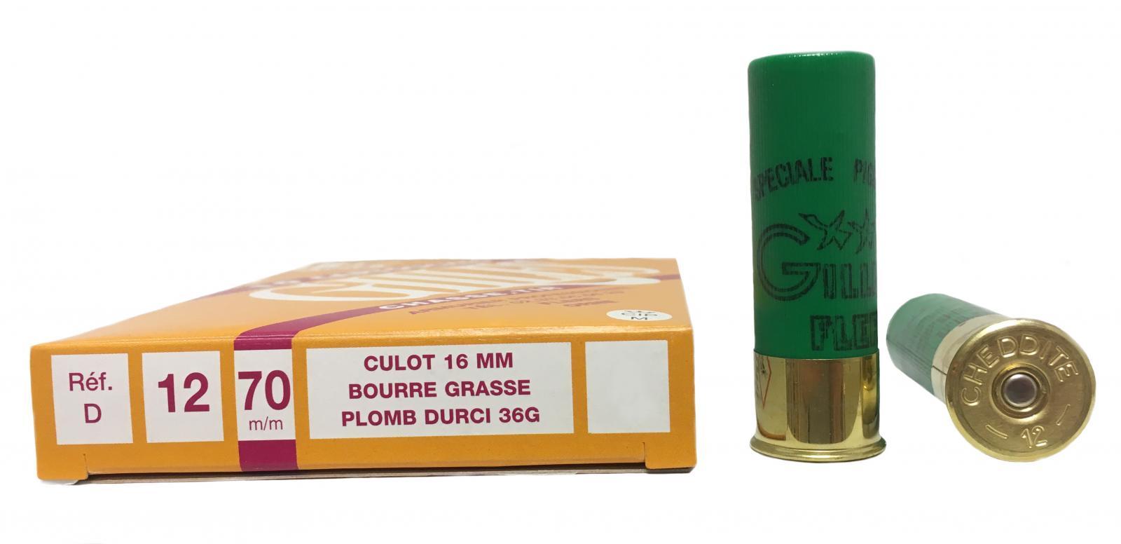 Boite de 10 cartouches 12 / 70 grand culot 36 grs SUPER Spéciale Pigeon D1