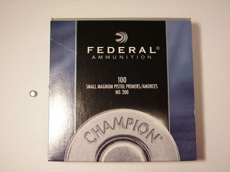 amorces FEDERAL small pistol magnum le 100 FED200