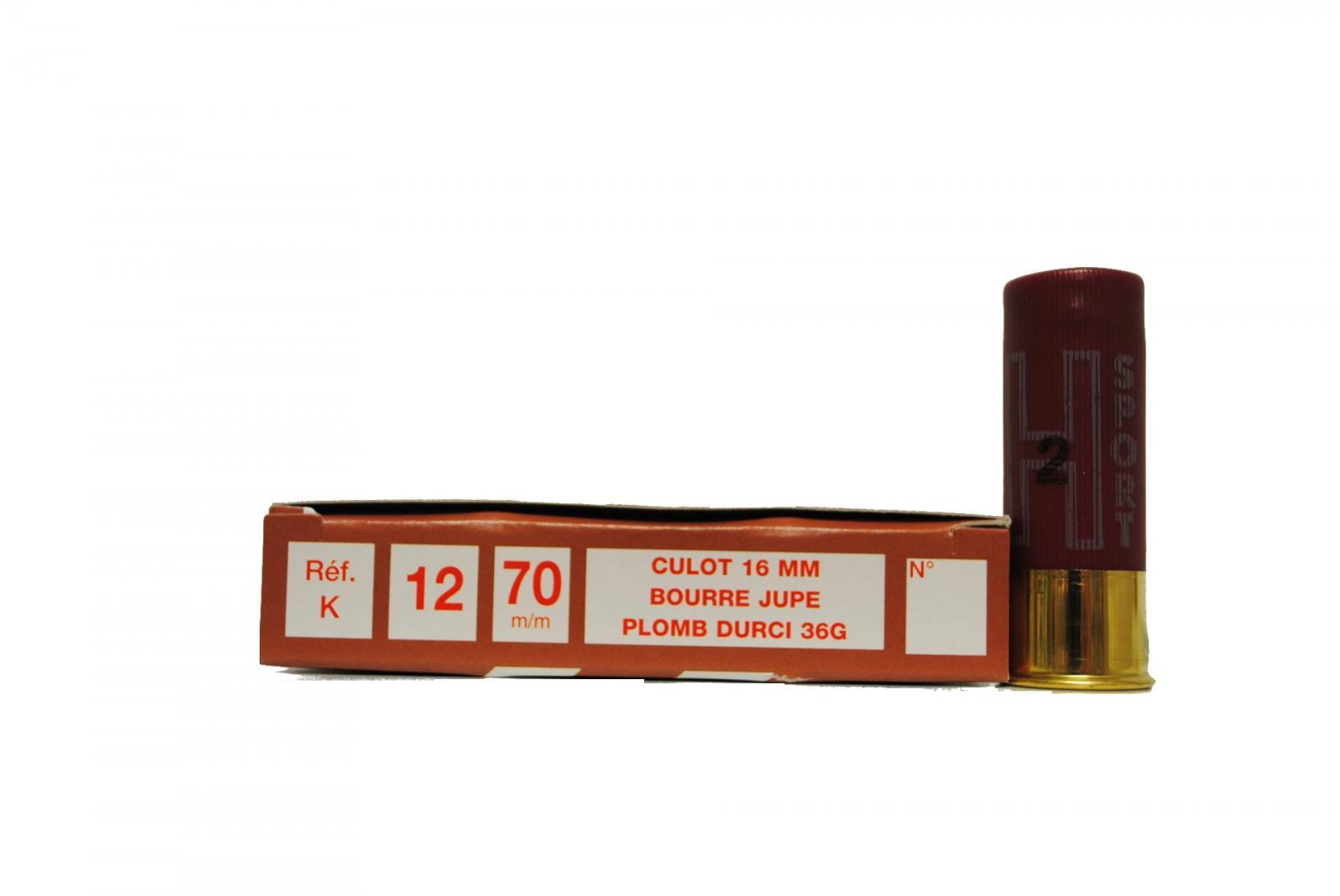 Boite de 10 cartouches 12 / 70 grand culot 36 grs SUPER K1