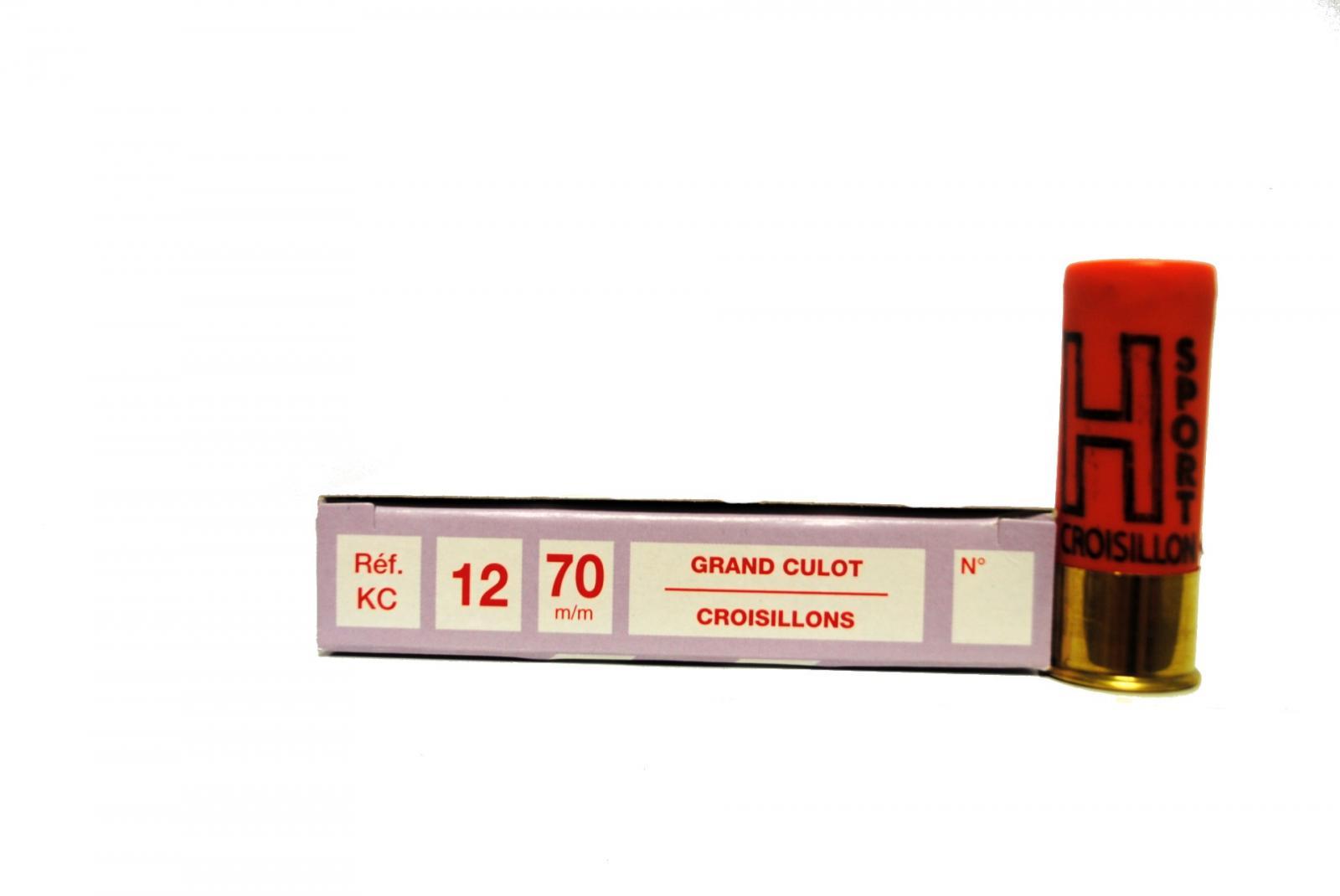 Boite de 10 cartouches 12 / 70 grand culot CROISILLON KC1
