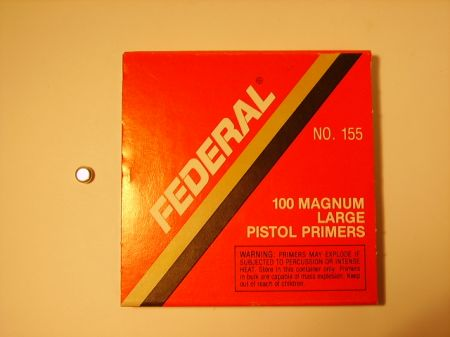 amorces FEDERAL large pistol magnum le 100 FED155