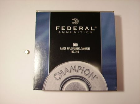amorces FEDERAL large rifle le 100  FED210