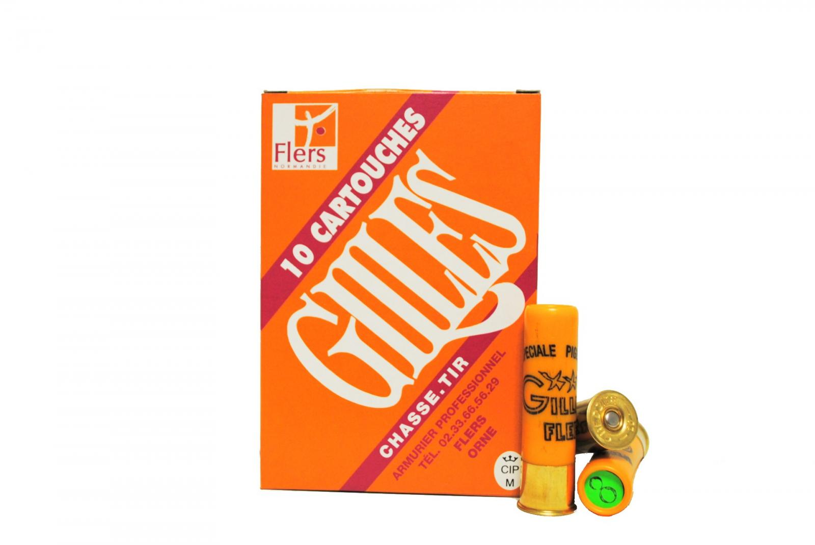 Boite de 10 cartouches GILLES 20 / 70 grand culot 28 grs Bourre GRASSE SUPER D3