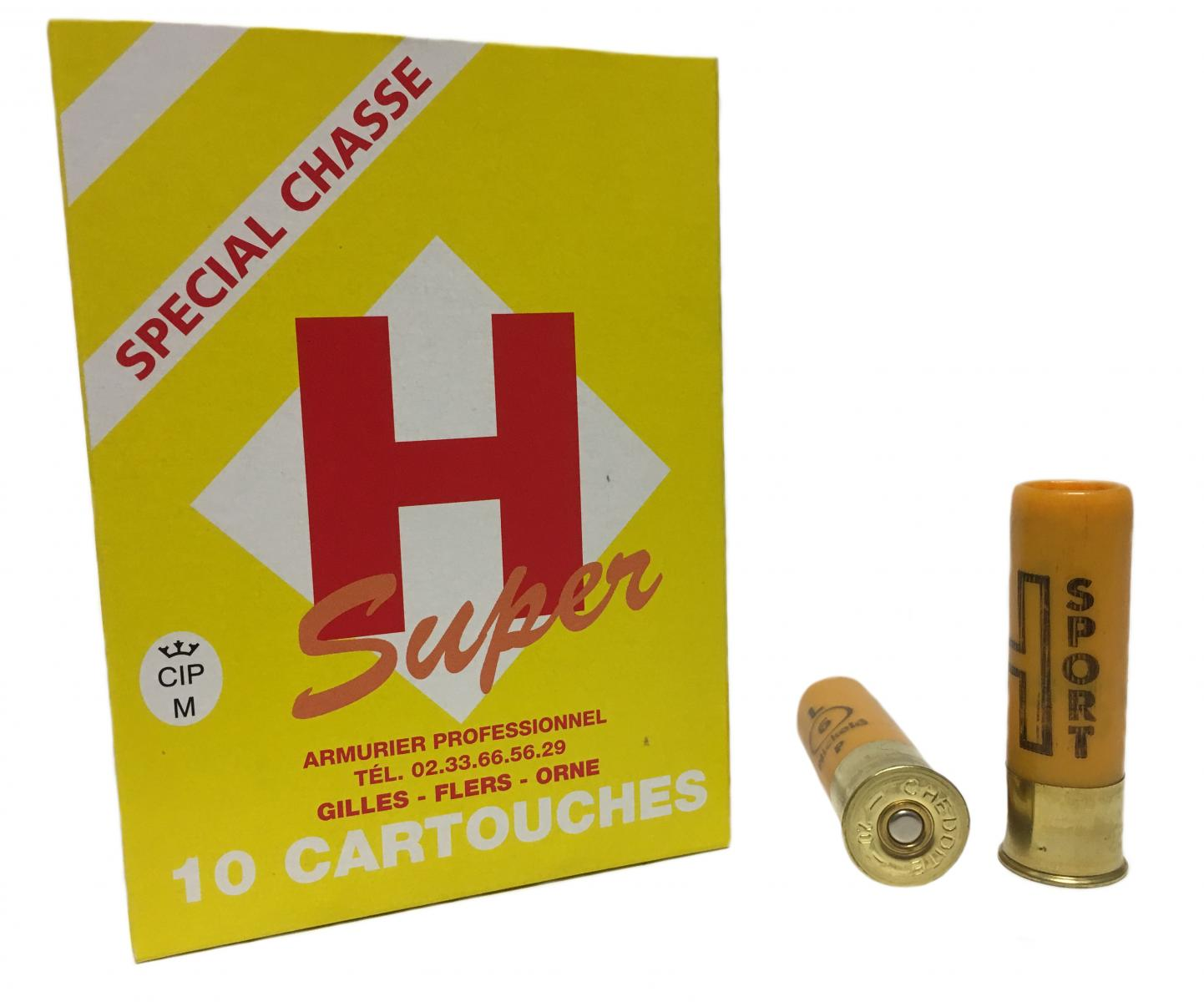 Boite de 10 cartouches H SPORT 20 / 70 grande puissance 28 grs Bourre JUPE SUPER L3