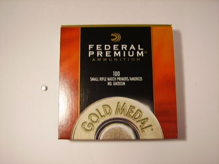 amorces FEDERAL small rifle match le 100 FED205M