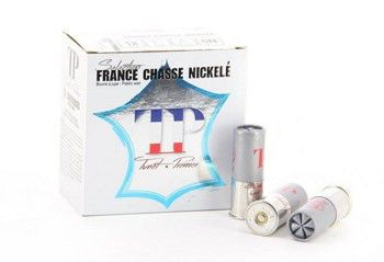 Boite de 25 cartouches calibre 12 / 70  FRANCE CHASSE 36 grs NICKELEES TFC2