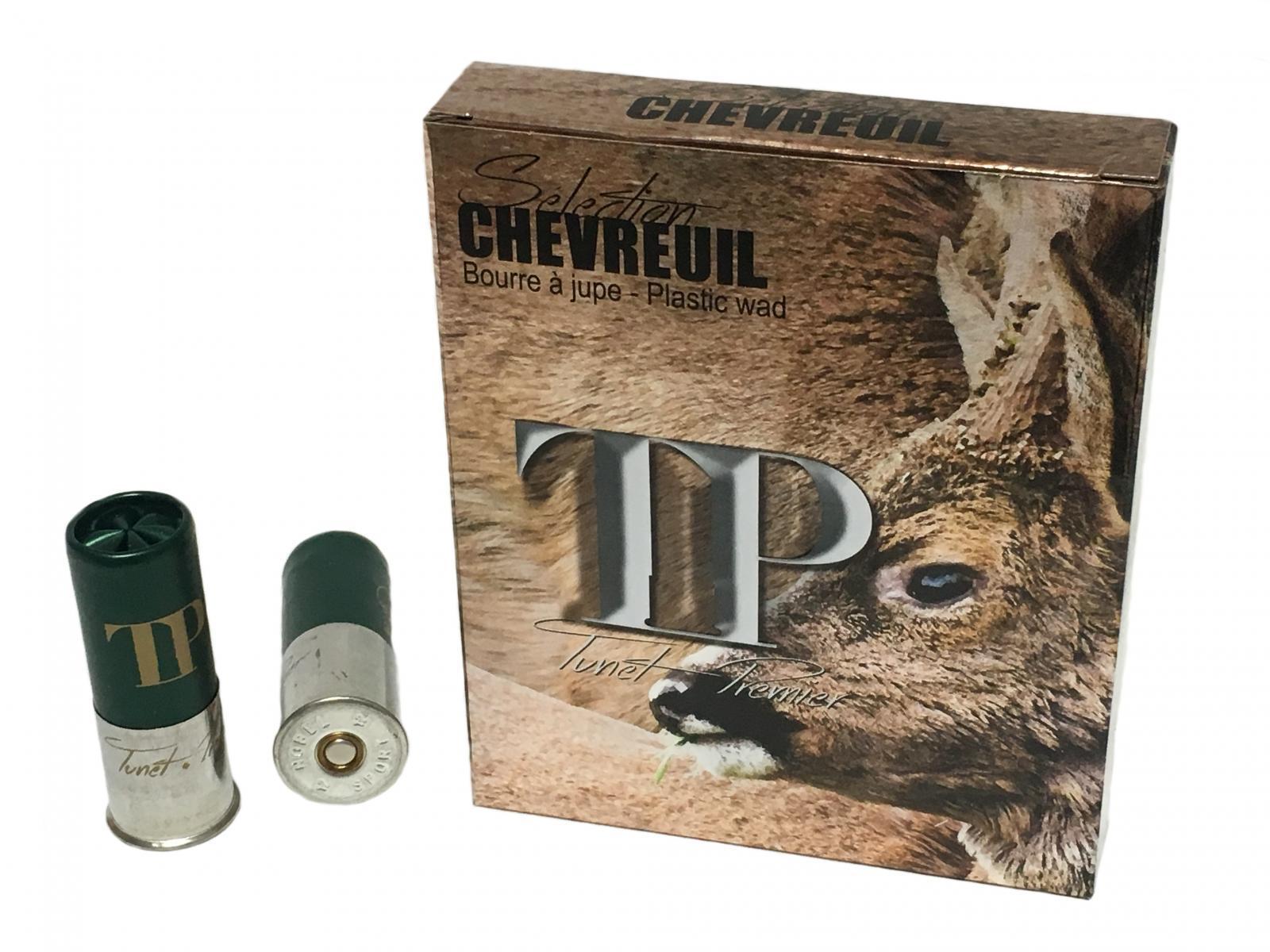 Boite de 10 cartouches calibre 12 / 70 SPECIAL CHEVREUIL TCHEV