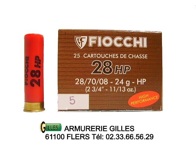 Boite de 25 cartouches calibre 28 CA6HP