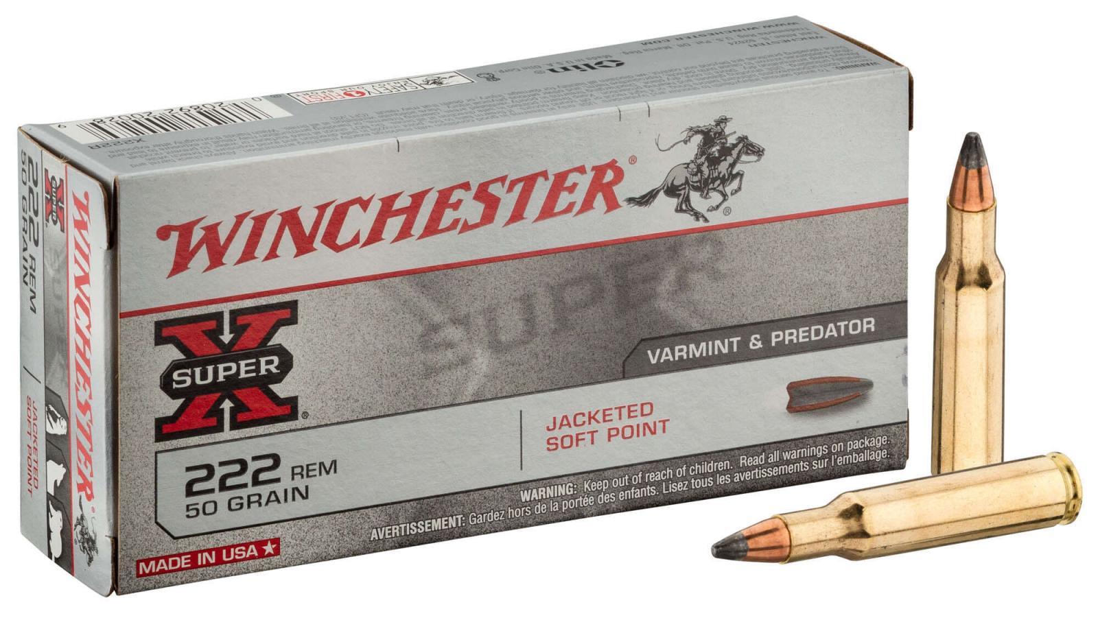 Boite de 20 cartouches calibre 222  WINCHESTER X222R