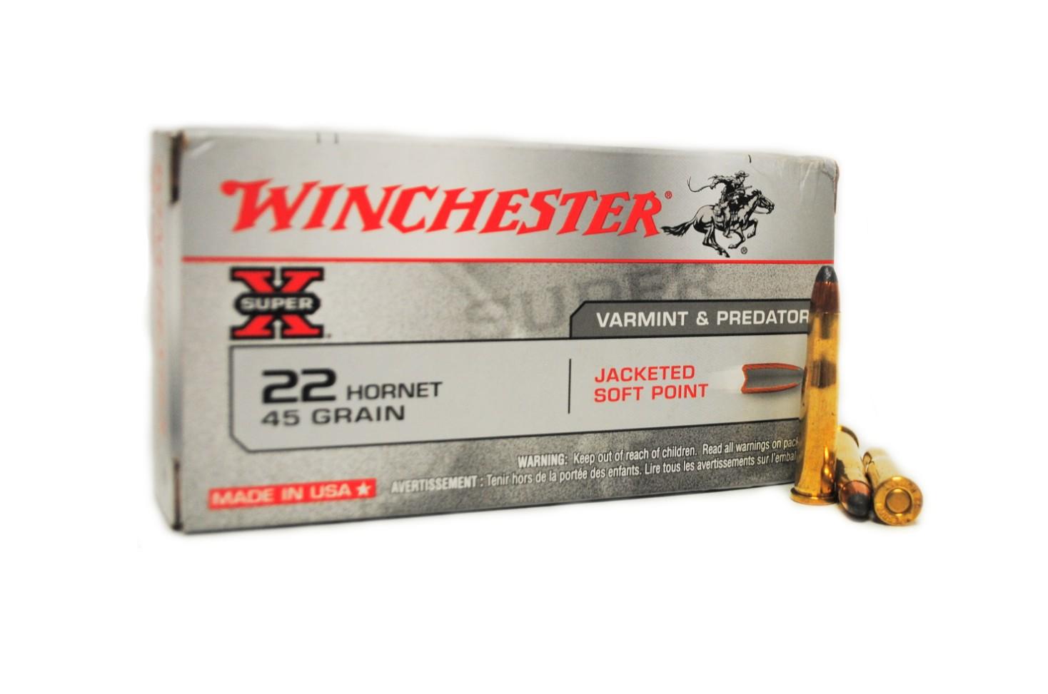 Boite de 50 cartouches calibre 22 HORNET WINCHESTER