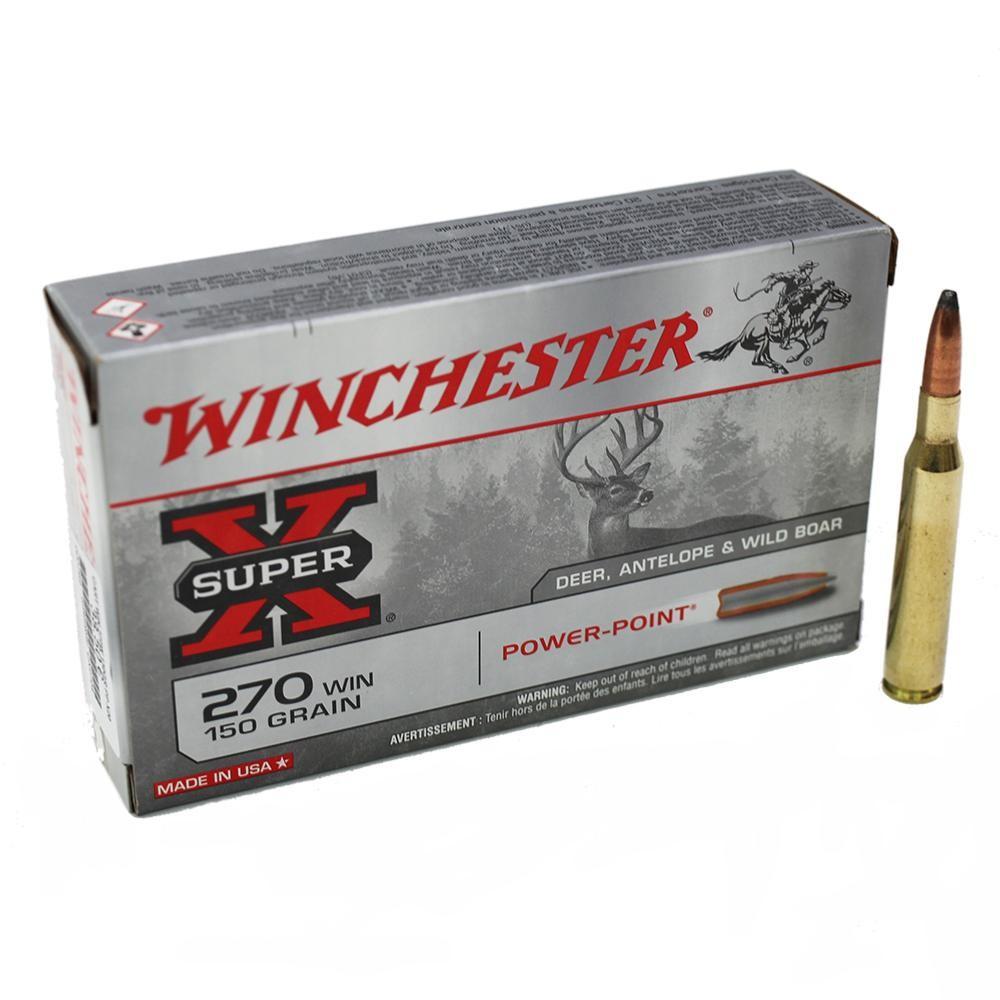 Boite de 20 cartouches calibre 270  WINCHESTER PPSP X2704