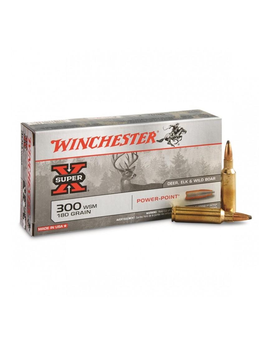 Boite de 20 cartouches WINCHESTER calibre 300 WSM  PPSP