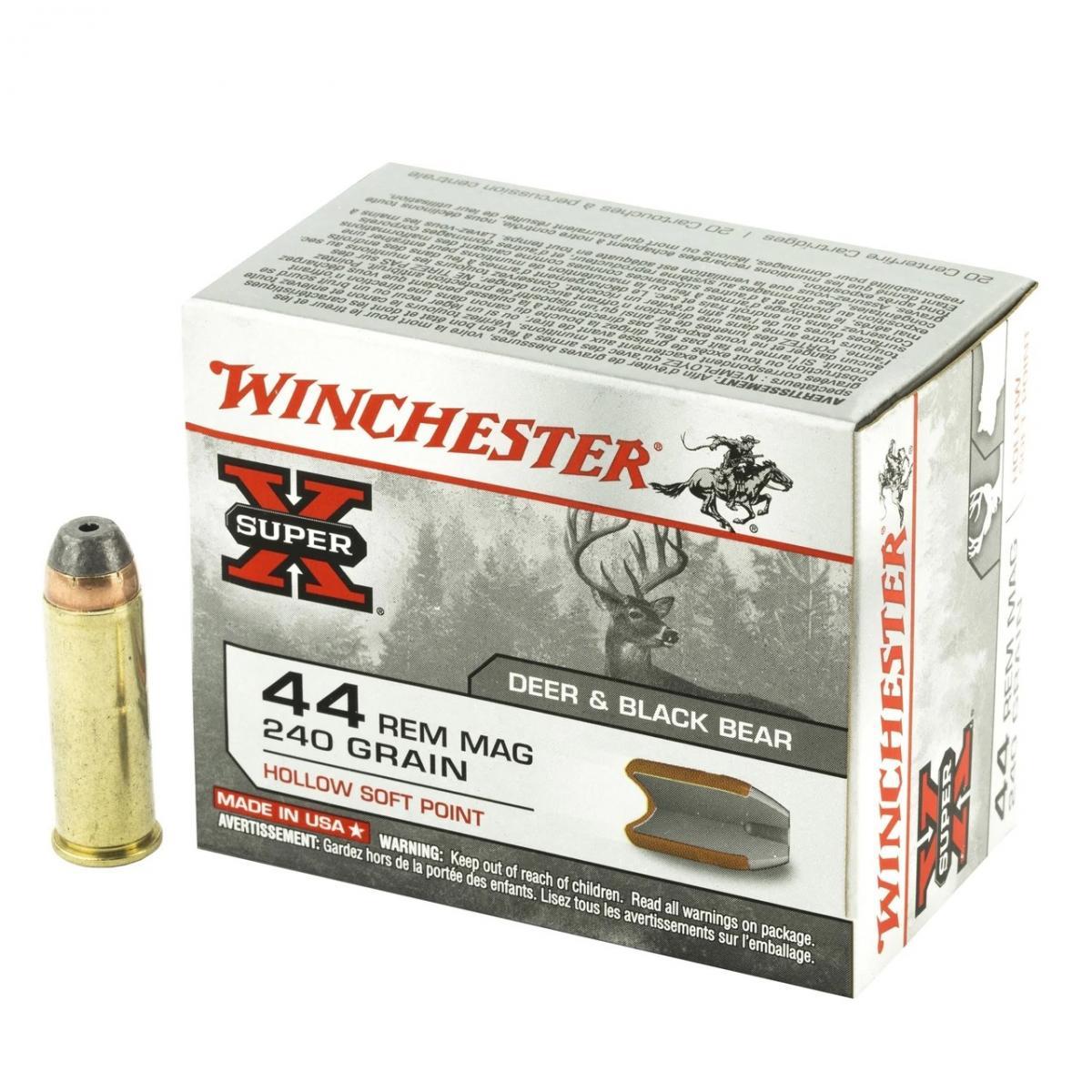 Boite de 20 cartouches WINCHESTER HSP calibre  44 Magnum