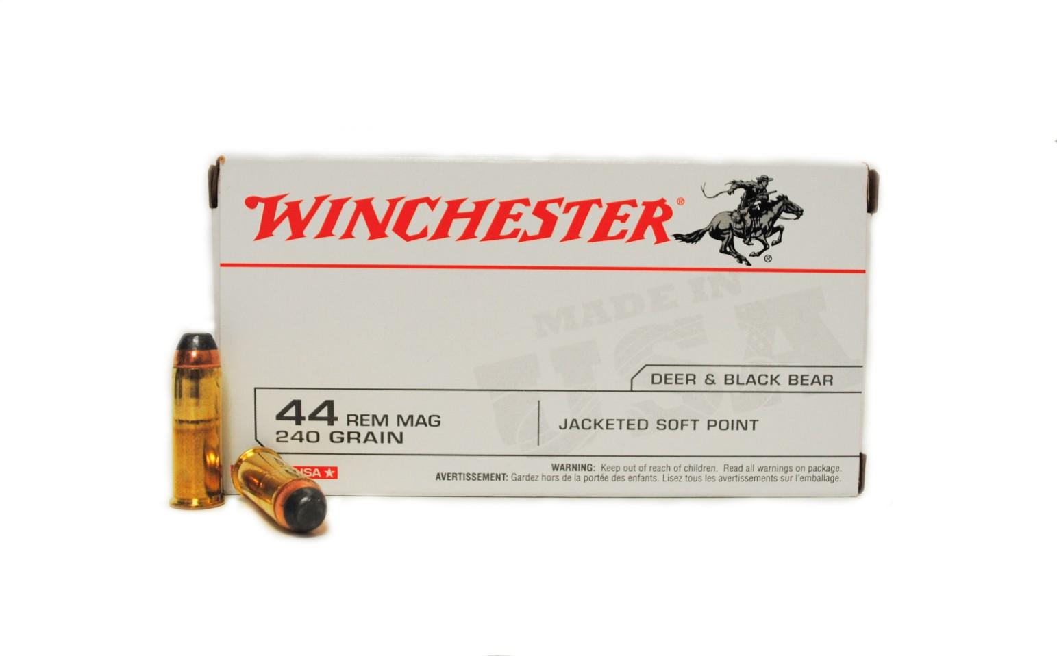 Boite de 50 cartouches WINCHESTER SP calibre 44 Magnum Q4240N