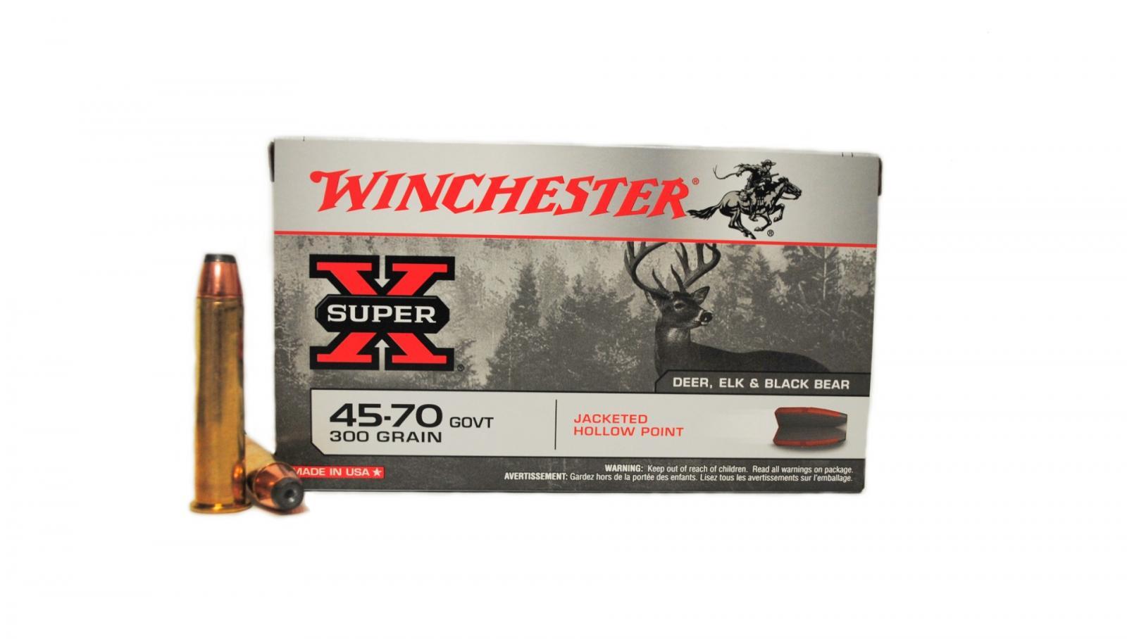 Boite de 20 cartouches WINCHESTER calibre 45/70 GVT